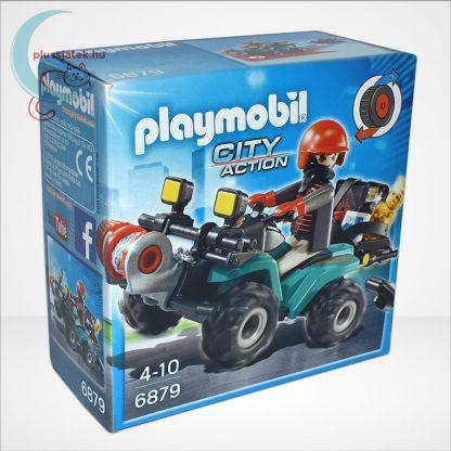 Playmobil - Műkincsrabló szuper quadján, csörlővel (City Action 6879), jobbról
