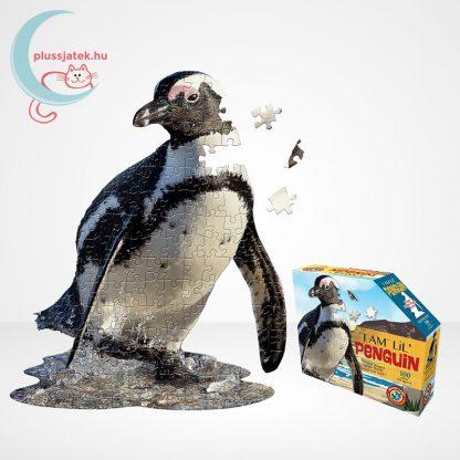 Wow poszter méretű forma puzzle - Pingvin, 100 db, kirakó és doboza