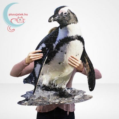 Wow poszter méretű forma puzzle - Pingvin, 100 db, kirakva