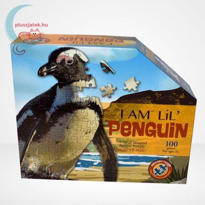 Wow poszter méretű forma puzzle - Pingvin, 100 db, szemből