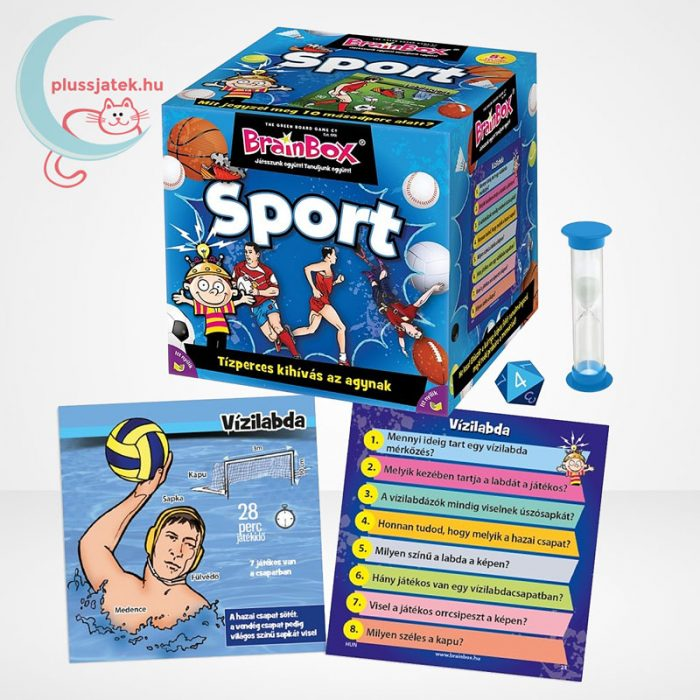 Brainbox - Sport társasjáték, a doboz tartalma