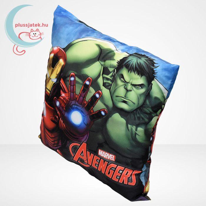 Marvel Avengers (Bosszúállók) díszpárna - Hulk és Vasember (40 cm), balról