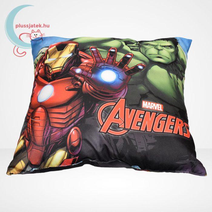 Marvel Avengers (Bosszúállók) díszpárna - Hulk és Vasember (40 cm), elölről