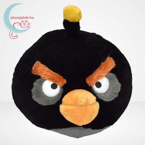 Angry Birds: Bomba, fekete madár plüss - 20 cm (TCC Global)
