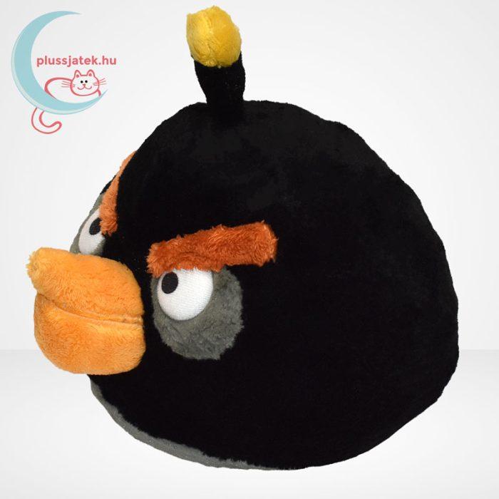 Angry Birds: Bomba, fekete madár plüss - 20 cm (TCC Global), balról