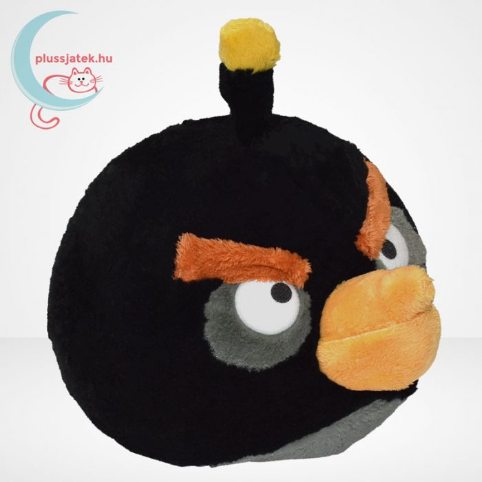 Angry Birds: Bomba, fekete madár plüss - 20 cm (TCC Global), jobbról