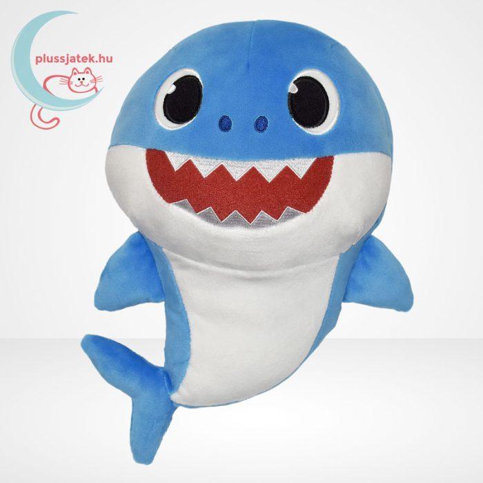 Baby Shark: Cápa család - Apa cápa (kék színű) zenélő plüss (30 cm)