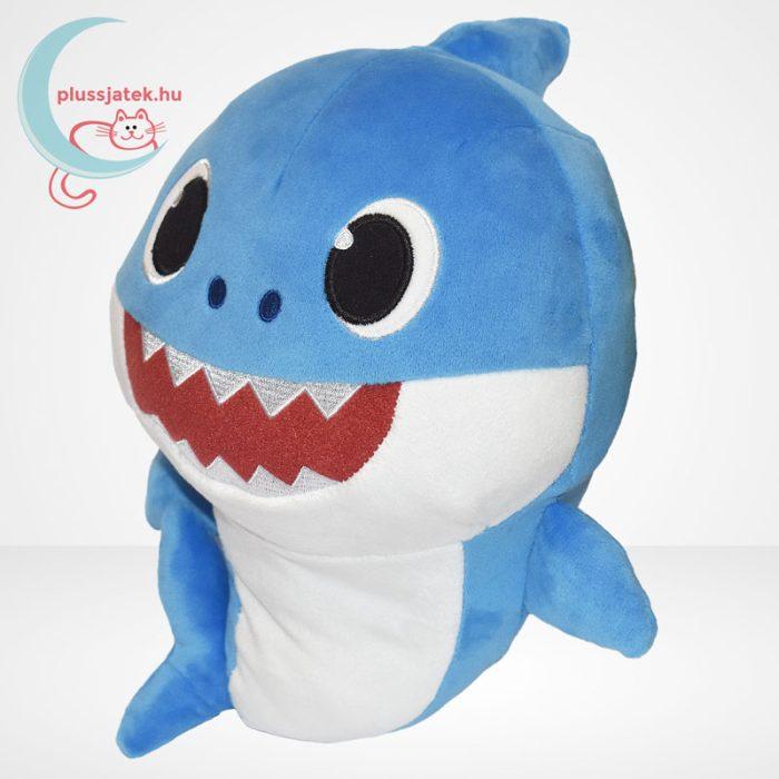 Baby Shark: Cápa család - Apa cápa (kék színű) zenélő plüss (30 cm), balról