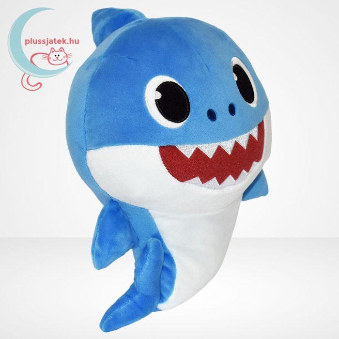 Baby Shark: Cápa család - Apa cápa (kék színű) zenélő plüss (30 cm), jobbról