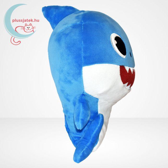 Baby Shark: Cápa család - Apa cápa (kék színű) zenélő plüss (30 cm), oldalról