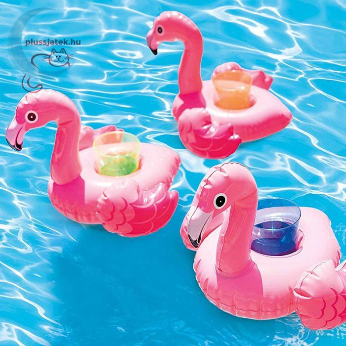 Intex 57500 Flamingó pohártartó 3 db - 33 x 25 x 20 cm, a vízen