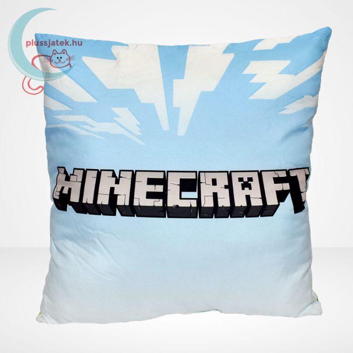 Minecraft párna (40x40 cm) hátulról, felirattal