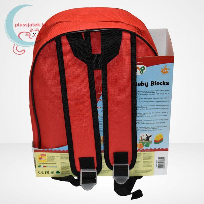 Bing - építőkocka piros hátizsákban (36 db-os), hátulról