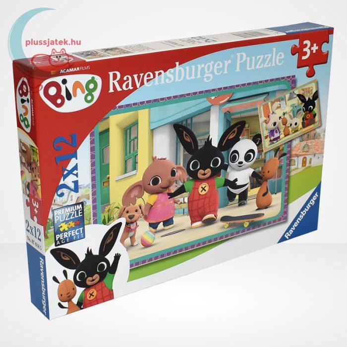Bing mókázik 2x12 db-os puzzle (2 db mini poszterrel) - Ravensburger [76185]