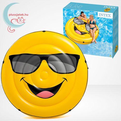 Cool Guy smiley felfújható (matrac) sziget körbefutó kötéllel