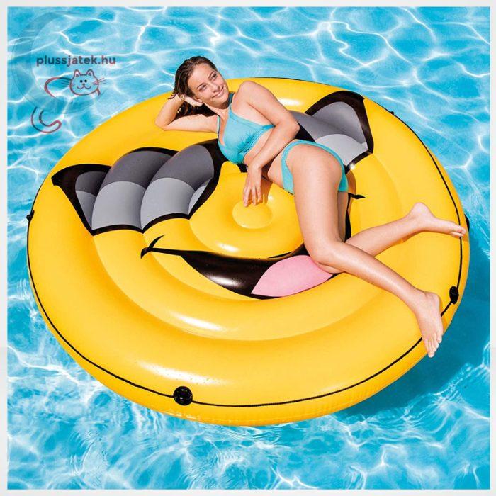 Cool Guy smiley felfújható (matrac) sziget körbefutó kötéllel, hatalmas, kényelmes