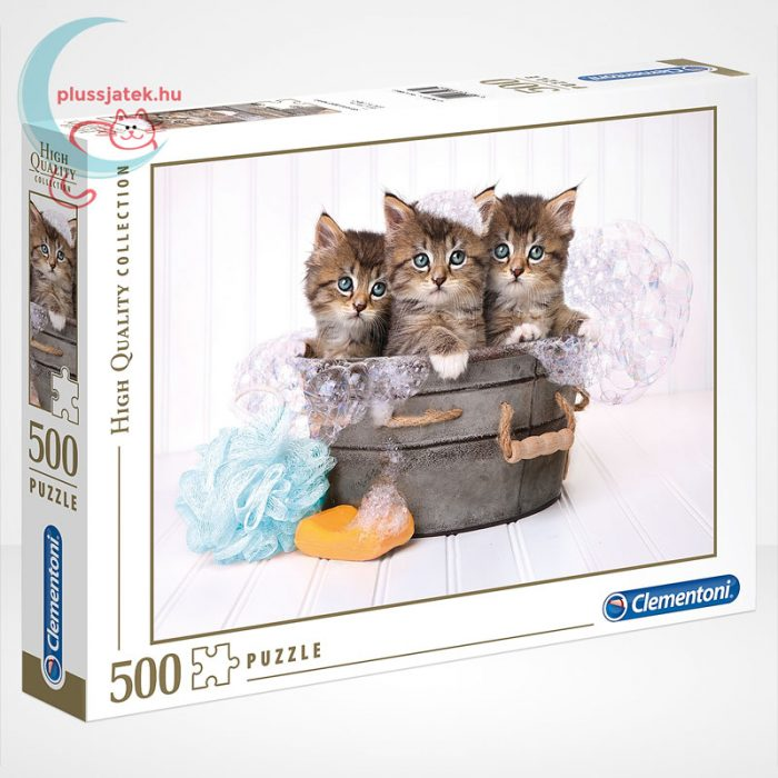 Kiscicák: cicamosdás – 500 db-os Clementoni puzzle (35065)
