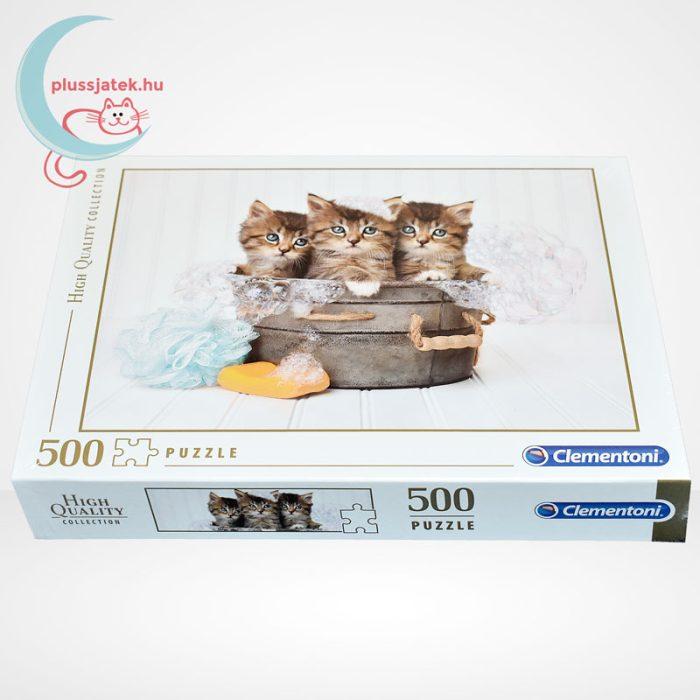 Kiscicák: cicamosdás – 500 db-os Clementoni puzzle (35065), oldalról