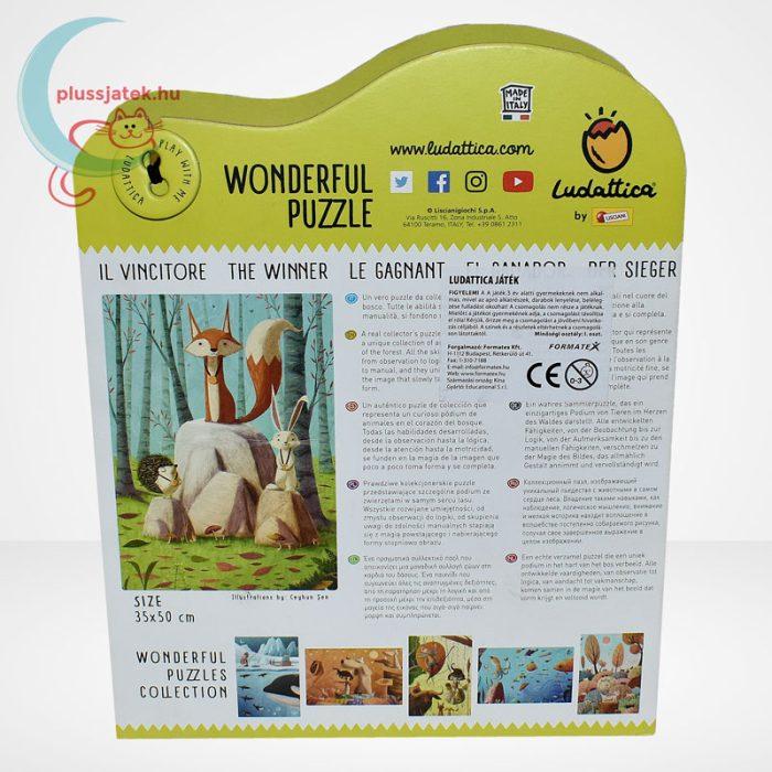 Ludattica Wonderful Puzzle - The Winner (A győztes, 108 db-os kirakó) [71210], hátulról