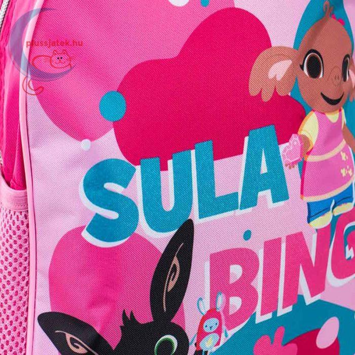 Bing: Sula és Bing rózsaszín ovis hátizsák, a minta közelről