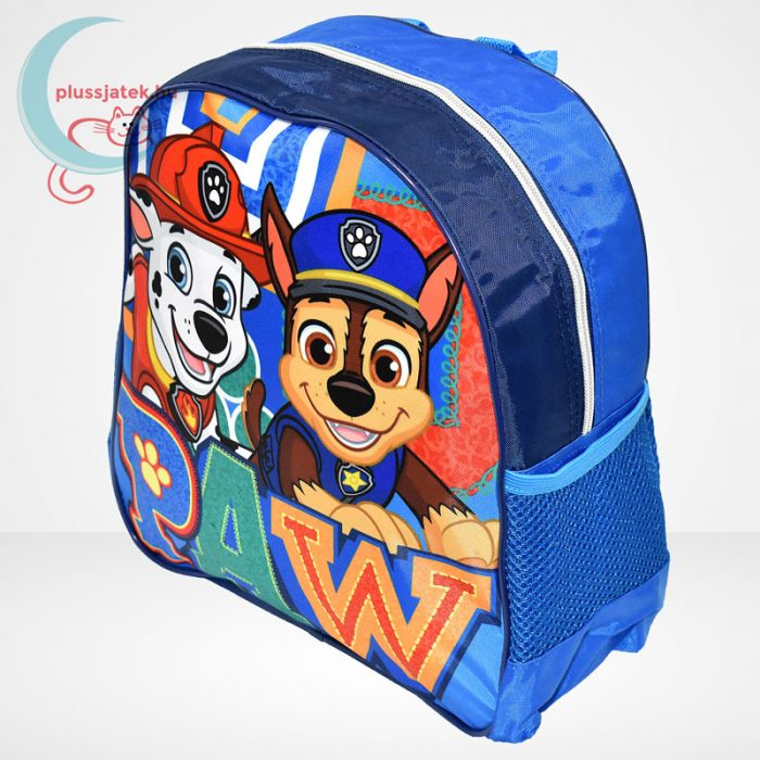 Mancs őrjárat: Marshall és Chase mintás ovis hátizsák fiúknak - kék, balról