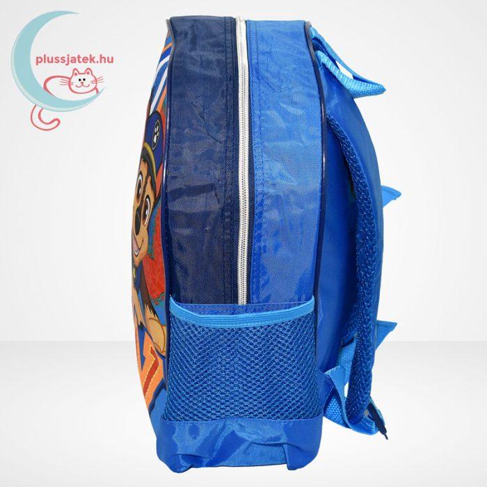 Mancs őrjárat: Marshall és Chase mintás ovis hátizsák fiúknak - kék, oldalról