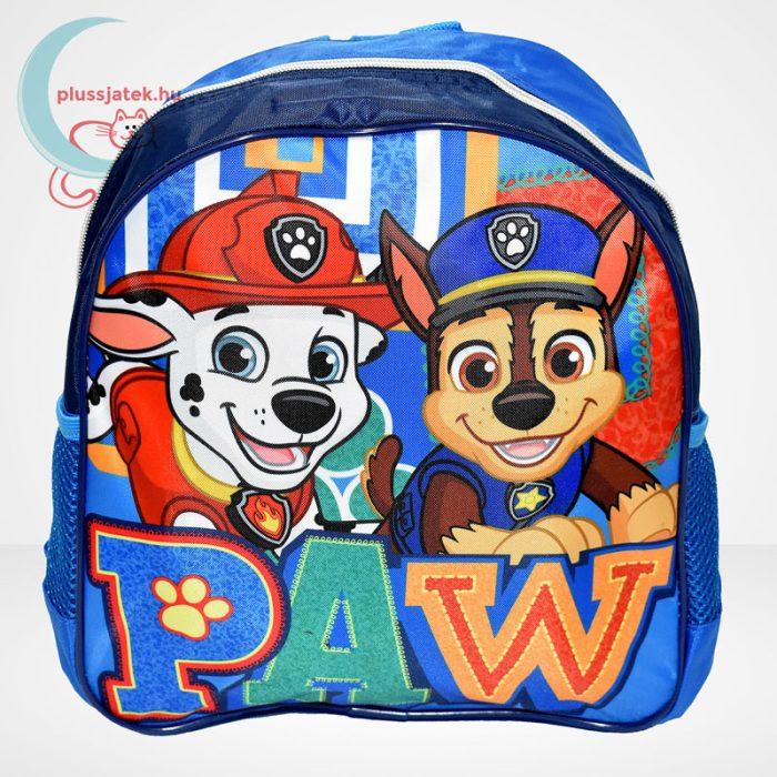 Mancs őrjárat: Marshall és Chase mintás ovis hátizsák fiúknak - kék, szemből