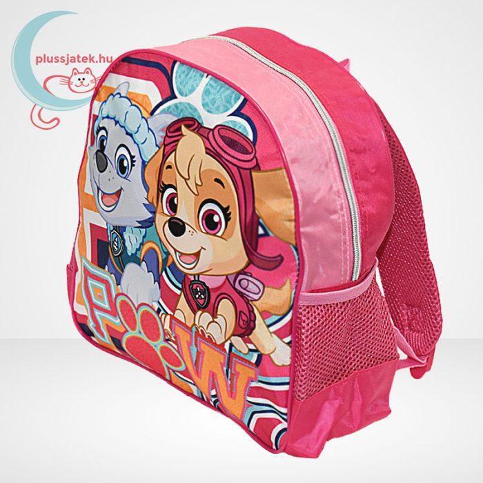 Mancs őrjárat: Sky és Everest mintás ovis hátizsák lányoknak - rózsaszín, balról