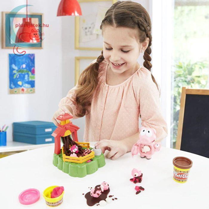 Play-Doh: Pigsley és a dagonyázó malacok gyurma készlet, 4 tégely gyurmával