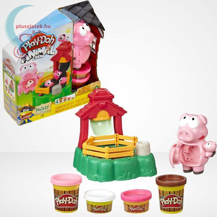 Play-Doh: Pigsley és a dagonyázó malacok gyurma készlet, a doboz és tartalma