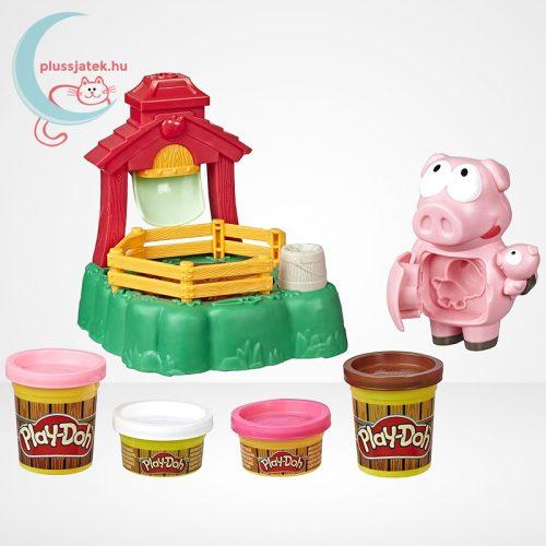 Play-Doh: Pigsley és a dagonyázó malacok gyurma készlet, a tartalom