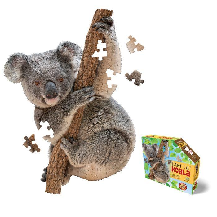 Wow poszter méretű forma puzzle - Koala, 100 db, a kép és a doboz