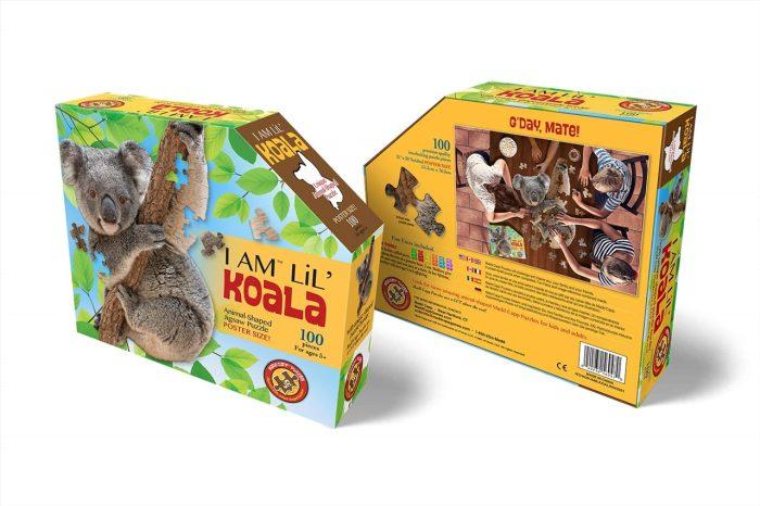 Wow poszter méretű forma puzzle - Koala, 100 db, elölről és hátulról