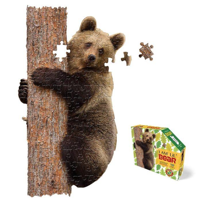 Wow poszter méretű forma puzzle - Medve, 100 db, a kép és a doboz