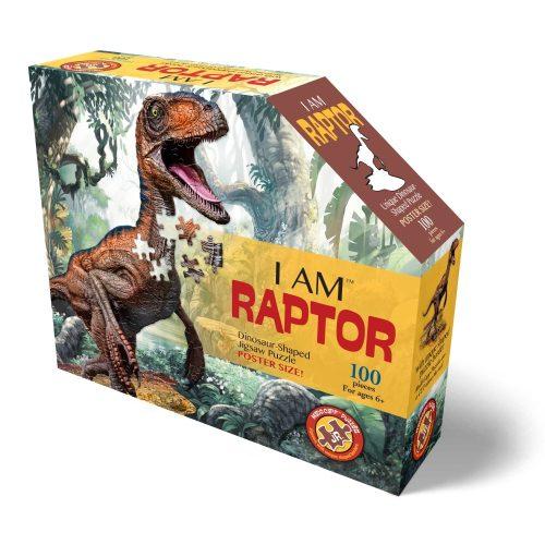 Wow poszter méretű forma puzzle - Raptor, 100 db, a doboz