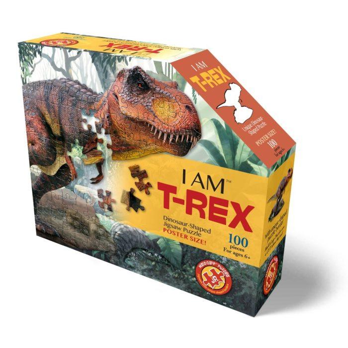Wow poszter méretű forma puzzle - T-Rex, 100 db, a doboz