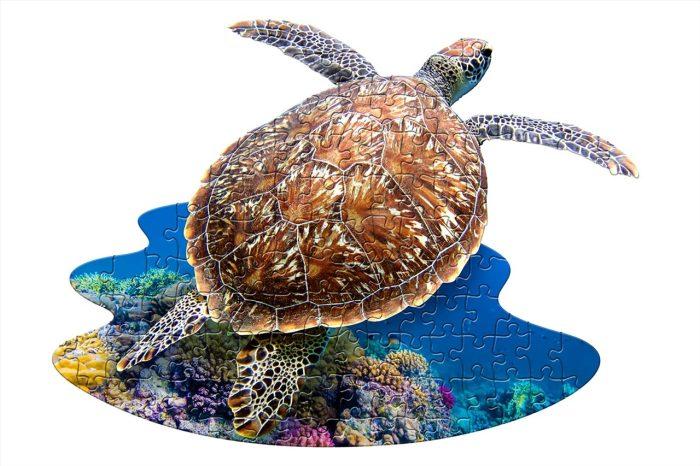 Wow poszter méretű forma puzzle - Teknős, 100 db, a kép kirakva
