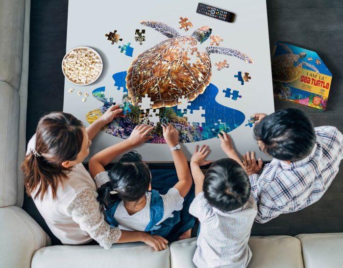 Wow poszter méretű forma puzzle - Teknős, 100 db, kirakó az egész családnak