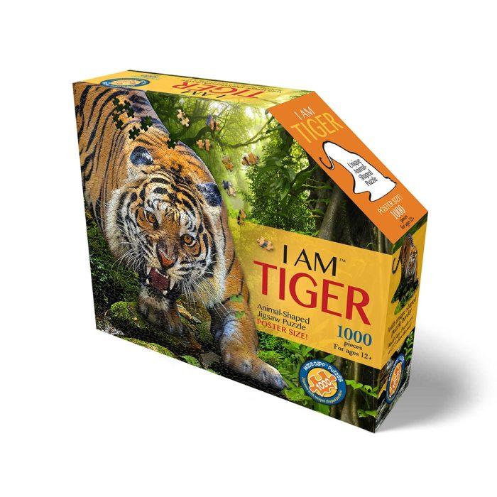 Wow poszter méretű forma puzzle - Tigris, 1000 db, a doboz