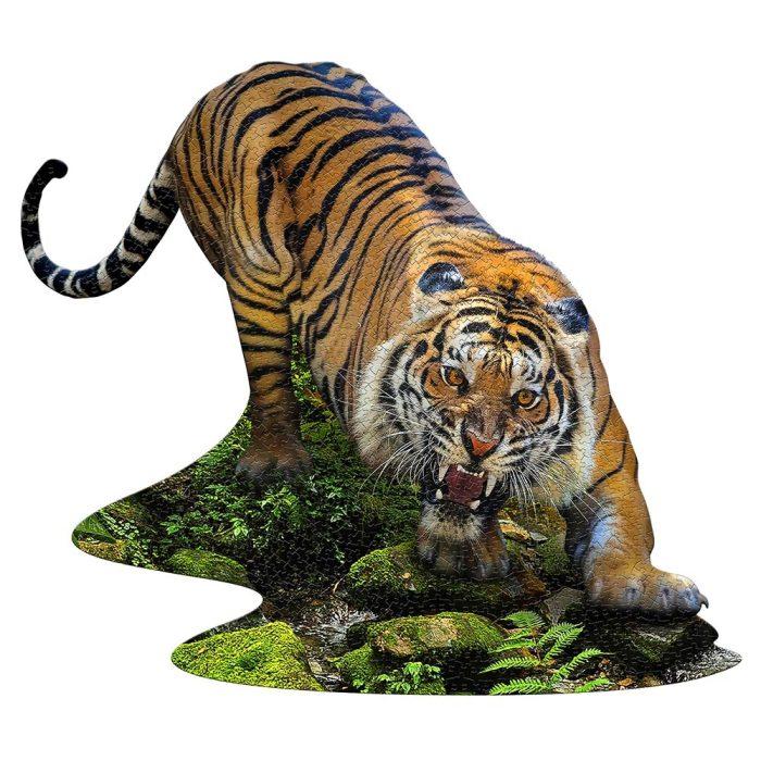 Wow poszter méretű forma puzzle - Tigris, 1000 db, a kép kirakva