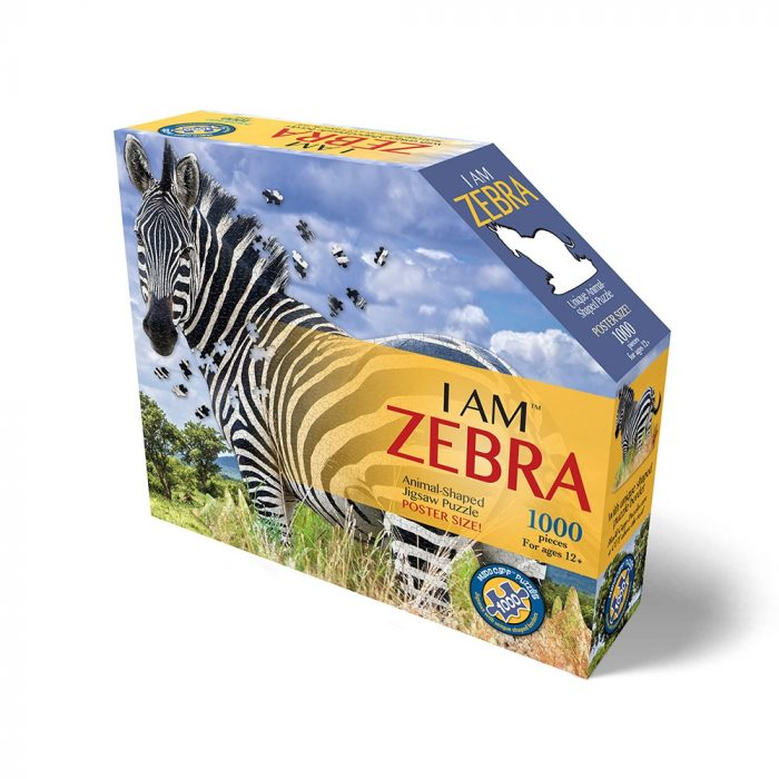 Wow poszter méretű forma puzzle - Zebra, 1000 db