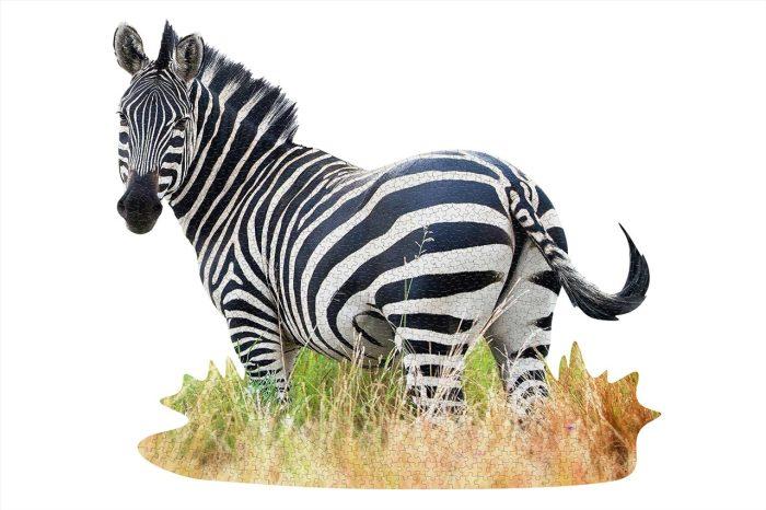 Wow poszter méretű forma puzzle - Zebra, 1000 db, a kép kirakva