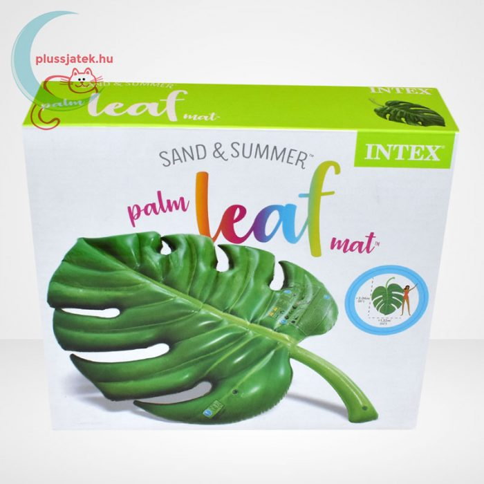 Intex pálmalevél alakú felfújható matrac (206x132 cm) [58782 Palm Leaf], szemből
