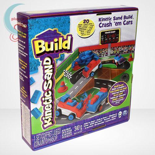 Kinetikus homok: autóverseny szett (Kinetic Sand Build: Crash em Cars)