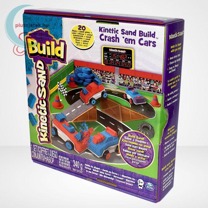 Kinetikus homok: autóverseny szett (Kinetic Sand Build: Crash em Cars), balról