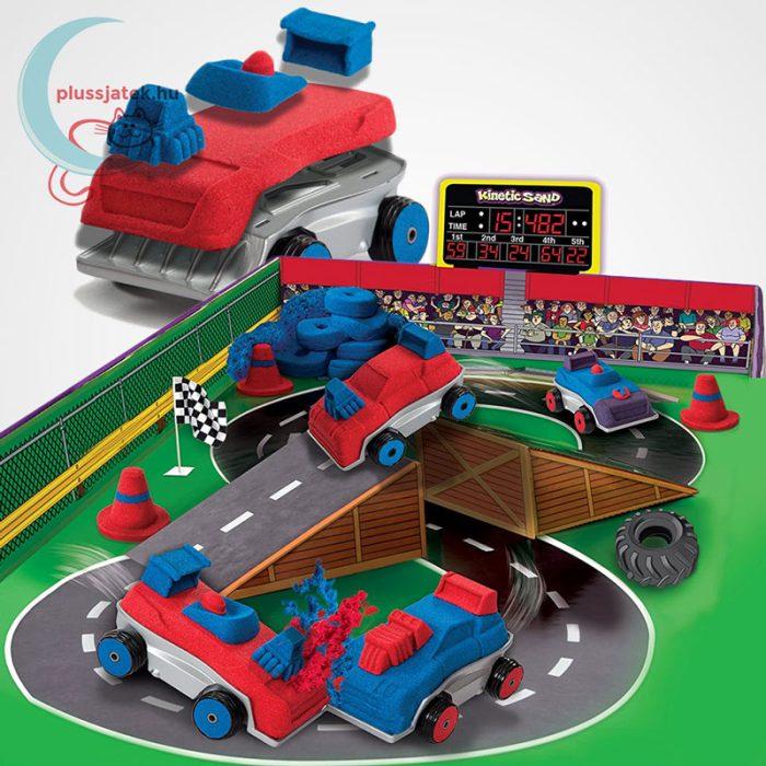 Kinetikus homok: autóverseny szett (Kinetic Sand Build: Crash em Cars), maximális kreativitás