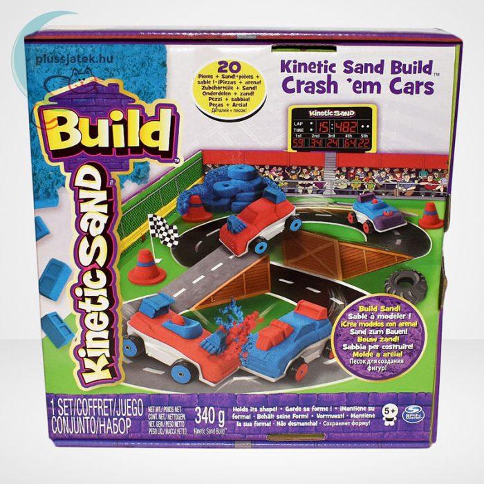 Kinetikus homok: autóverseny szett (Kinetic Sand Build: Crash em Cars), szemből