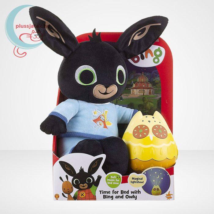 Pizsamás Bing plüss nyuszi világító, zenélő Owly bagollyal