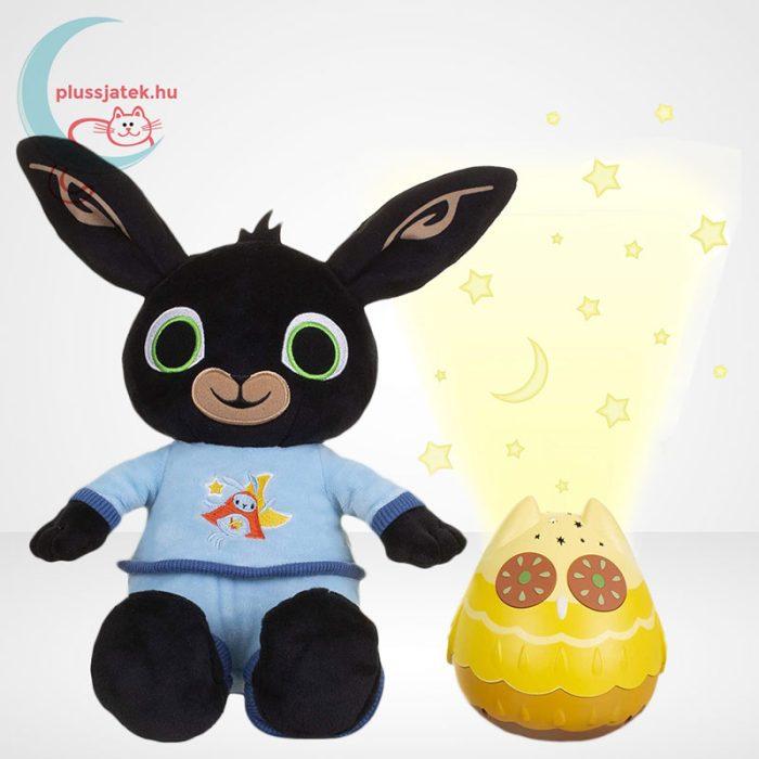 Pizsamás Bing plüss nyuszi világító, zenélő Owly bagollyal, Bing és Owly