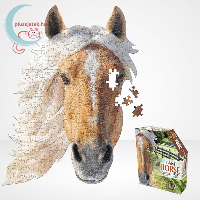 Wow poszter méretű forma puzzle – Ló, 300 db, a kép, dobozzal